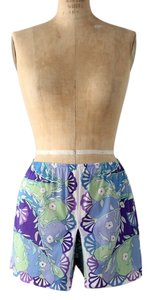 Emilio Pucci 1960s Vintage Nylon Tap Pants Mini/Short Shorts Blue