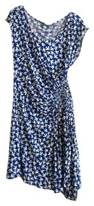 Anthropologie short dress NWT S Blue White Bird Motif on Tradesy