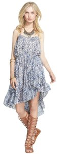 Free People short dress Medium Boho Halter Print Spring Summer on Tradesy
