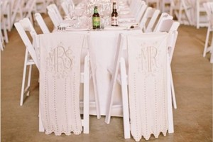 BHLDN Cream Mr. and Mrs. Chair Banners Other
