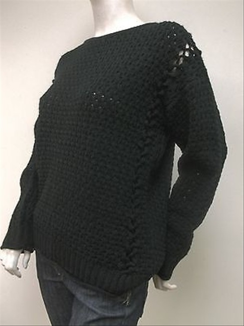 MINKPINK Open Stitch Crocheted Crew Neck Sweater