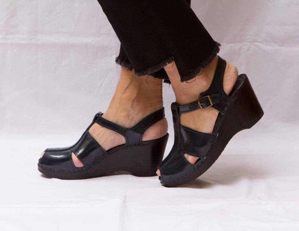 a89f1433dbf Mix No. 6 Patent Leather Navy T-strap Clogs Wedges Size EU 40 (Approx. US  10) Regular (M, B) 43% off retail