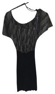 bebe Bodycon Open Polka Dot Dress
