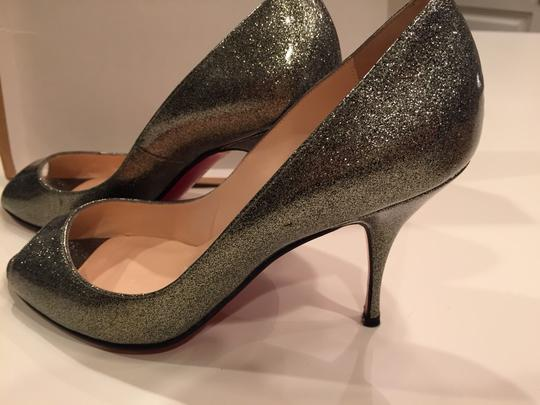 Christian Louboutin Silver Grease Pumps