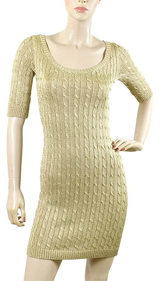Ralph Lauren Knit Cable Metallic Ribbed Ed Party Dress