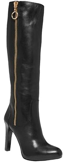 INC International Concepts Leather Black Boots