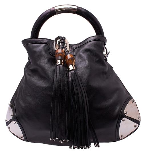 Gucci Indy Leather Tassel Hobo Bag
