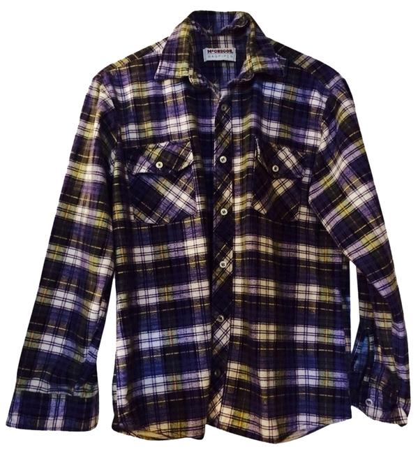 McGregor Button Down Shirt Yellows/blues/greens