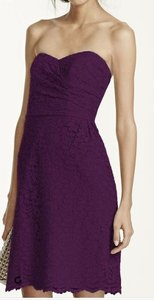 David's Bridal Plum 6 Dress