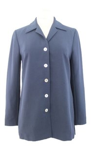 Laura Ashley Button Down Shirt Navy Blue