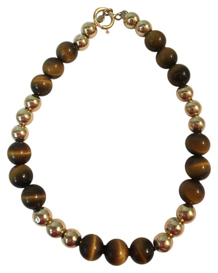Other AUTHENTIC 14K GOLD AND BROWN TOPAZ BEAD BRACELET