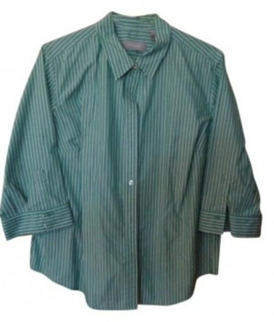 Liz Claiborne Top Green/White