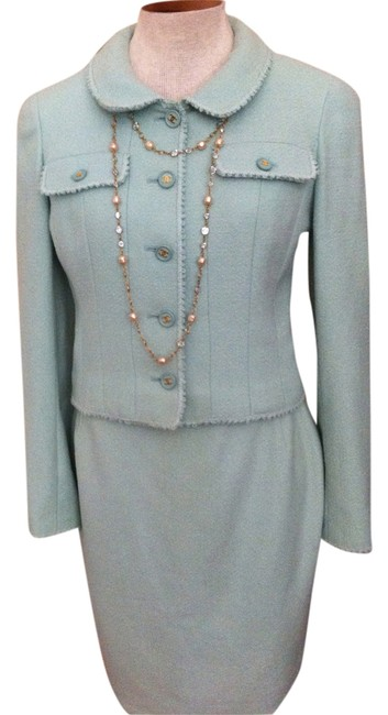 Chanel Vintage Chanel Wool Skirt Suit