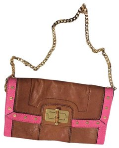 MILLY tan, pink Clutch