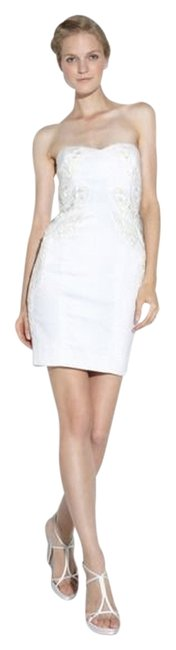 Nicole Miller short dress Ivory Embroidery Strapless on Tradesy