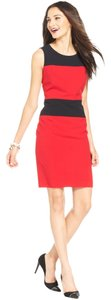 Nine West Sleeveless Color-blocking Red Black Dress