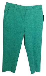 Kim Rogers Crop Pants Summer Capris Green