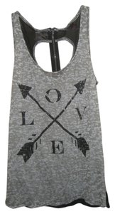 Material Girl Love Top Gray