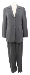 Jones Wear Jones Wear Woman Designer Grey Polyester Pantsuit Size 10