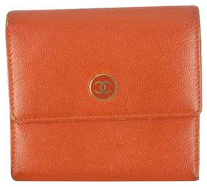 Chanel Orange Double Sided CC Wallet CCWLM30