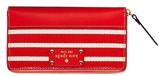 Kate Spade Kate Spade Wellesley Fabric Neda - Empire Red/Cream (BRAND NEW)
