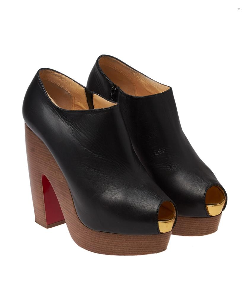 1388d04f465 Christian Louboutin Black Miss Tack 85 Leather Booties 39 (43088) Pumps  Size US 9 Regular (M, B)