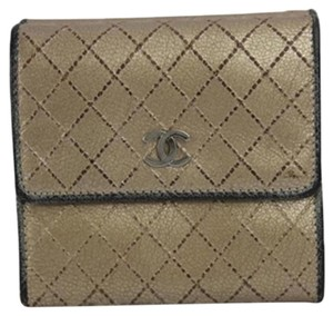 Chanel Quilted Metallic Gold & Silver CCFLM1