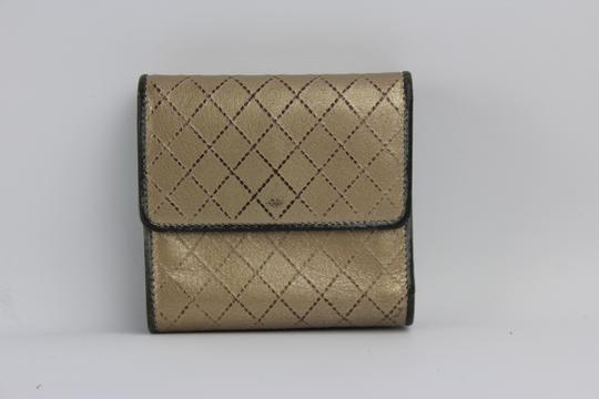 Chanel [ENTERPRISE] Quilted Metallic Gold & Silver CCFLM1