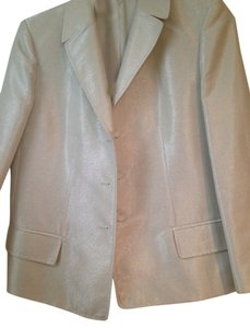 Ellen Tracy ELLEN TRACY WOMENS JACKET IVORYAND GOLD METALLIC SZ 10 GORGEOUS!!
