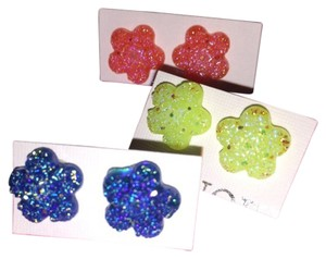 Other Three Pairs New Flower Earrings