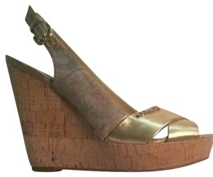 Coach Gold Wedges