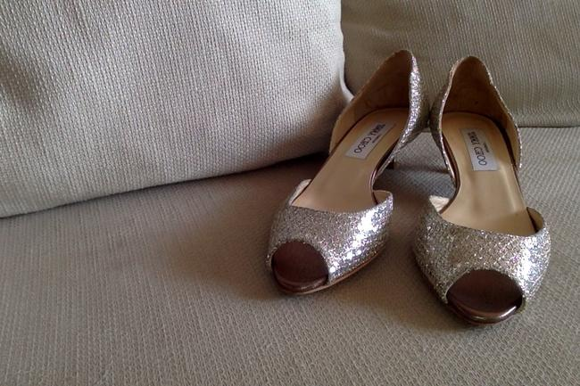 Item - Gold D'orsay Kitten Pumps Size US 7 Regular (M, B)