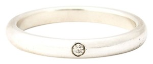 Tiffany & Co. Tiffany & Co. Elsa Peretti Band Ring with Diamond in 925 Sterling Silver, Size 7