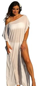 UjENA Ujena White Honeymoon Collection Cabo Dress Swimsuit Cover up D516
