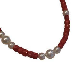 Dona Vock Coral And Pearl Necklace