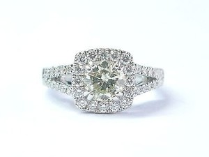 Verragio 18kt Fancy Light Yellow Diamond White Gold Engagement Ring 1.50ct