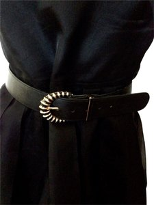 St. John St. John Vintage Black Leather Belt