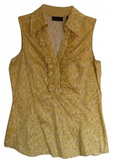 Preload https://img-static.tradesy.com/item/31753/new-york-and-company-yellow-multi-sleeveless-features-ruffle-detail-on-neck-open-blouse-size-4-s-0-0-650-650.jpg