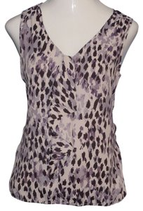 Ann Taylor LOFT Top Multi-Color, Gray, Black, Purple