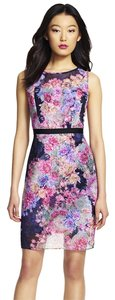 Adrianna Papell Floral Chiffon Sheath Dress