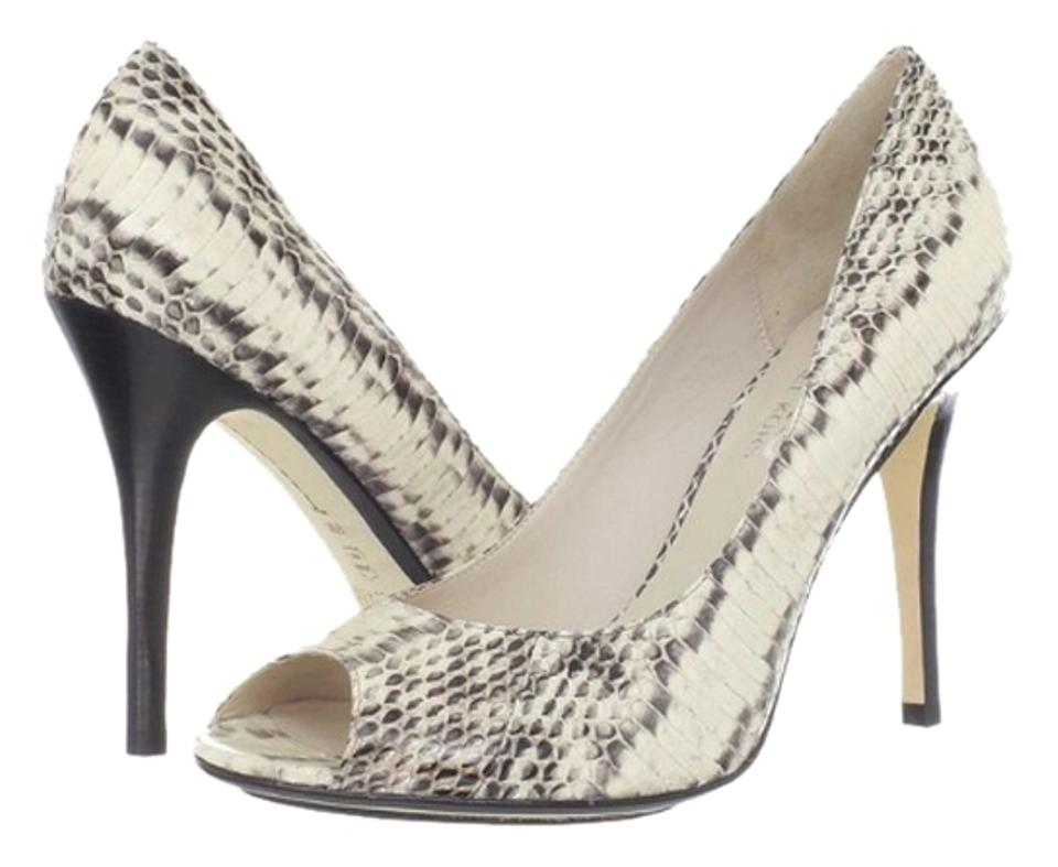 9d8250ef5780 Michael Kors Genuine White and Black Snake Pumps Size US 9.5 Regular ...