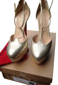 Christian Louboutin Top La Gold Platforms