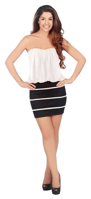 Preload https://item1.tradesy.com/images/trixxi-black-and-white-blouson-top-fitted-bottom-above-knee-cocktail-dress-size-16-xl-plus-0x-3175870-0-0.jpg?width=400&height=650