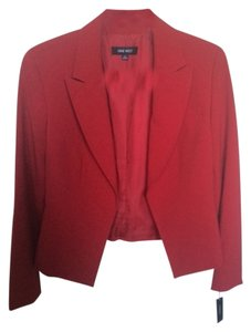 Nine West Fire Red Blazer