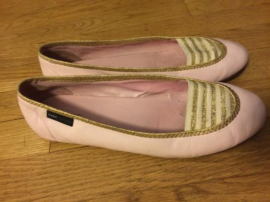Marc by Marc Jacobs Pink and Gold Flats