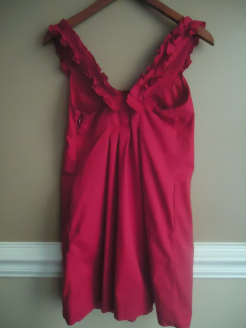 Anthropologie short dress Raspberry Pink Fei Pink Cotton Shift on Tradesy