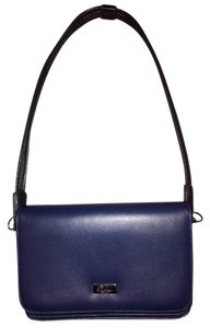 Buxton Super Soft Wristlet in Navy Blue