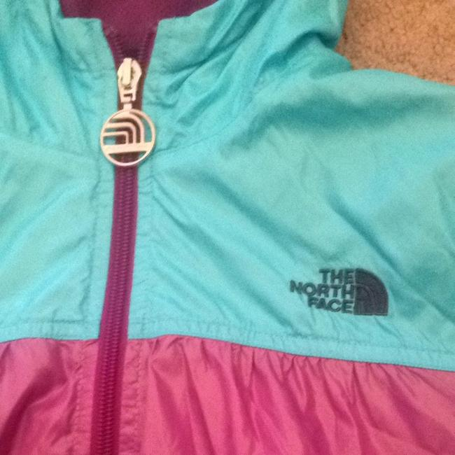 The North Face Purple, Gray, and blue Jacket