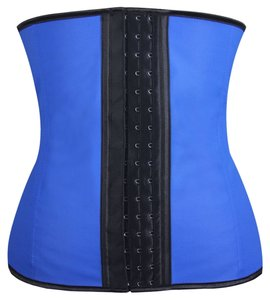 Independent Clothing Co. Blue Women Latex Rubber Waist Trainer Cincher Underbust Body Shaper Shapewear Large