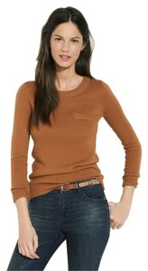 Madewell Burnt Siena Pocket Crew Neck Longsleeve Sweater